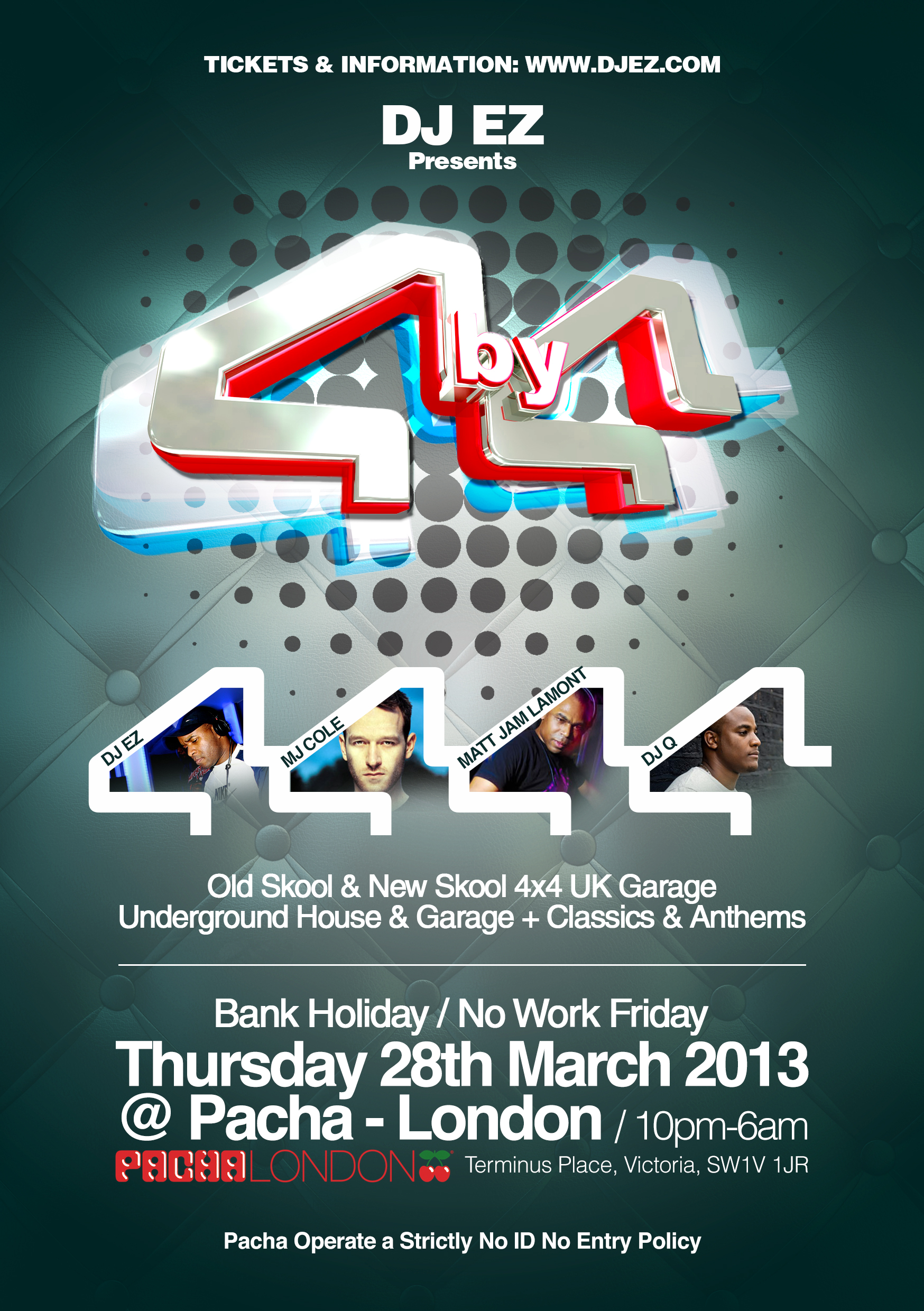 4by4 - Thurs 28th March 2013 (Front Of Flyer)
